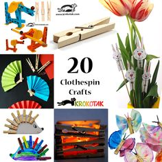 20 Clothespins crafts for kids