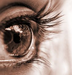 Sepia Eye- my zombies see the world in sepia when they are highly emotional.