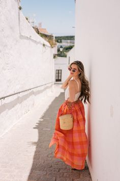 In this post we share our itinerary from our mini vacation to Vejer De La Frontera Spain Find a photo guide to the places we explored restaurants we tried and the hotel where we stayed as well as our tips for combatting jet lag on international flights Travel Outfit Summer, Summer Outfits, Cute Outfits, Summer Dresses, Summer Travel, Blue Dresses, Outfits For Spain, Desi, Spain Fashion