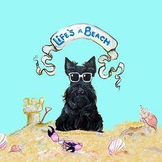 Life's a Beach Scottish Terrier
