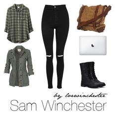 """Sam Winchester"" by lorwinchester on Polyvore featuring moda, Nature Breeze, RVCA, Fat Face, Topshop, supernatural, winchester, sam e dean"