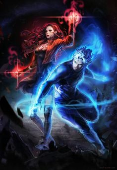 Scarlet Witch and Quicksilver  Wanda Maximoff and Pietro Maximoff