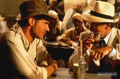Raiders of the Lost Ark - Publicity still of Harrison Ford & Paul Freeman