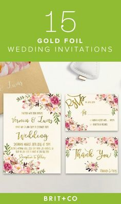 Check out these gorgeous invitations for ideas for your big special day.
