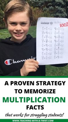 The Fastest And Easiest Way to Teach Struggling Students To Memorize Multiplication Facts - Teaching with a Twist Teaching Multiplication, Teaching Math, Multiplication Strategies, Maths, Math Fractions, Homeschool Math, Homeschooling, Dyscalculia, School Tool