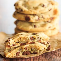These chocolate chip cookies are an adaptation of the famous NY Times chocolate chip cookies; they are thick, chewy and loaded with chocolate chips!
