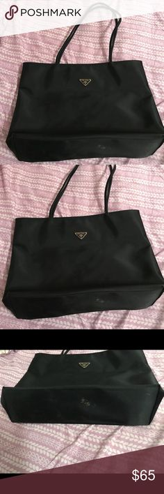 eab12f27527 Spotted while shopping on Poshmark  Prada Black Large Tote!  poshmark   fashion