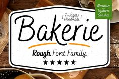 Bakerie Rough is a handwritten script type family of 7 fonts in multiple weights. Designed to be a hard-working, genuine handmade set of scripts that are