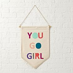 You Go Girl Canvas Banner  | The Land of Nod