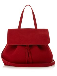 Mansur Gavriel's flame-red Mini Lady bag is a cool, contemporary piece perfect for the stylish commuter.