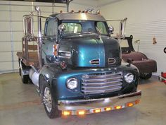 1950 Ford COE F6 Flat Bed Custom Car Hauler Truck.