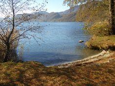 Dalla riva autunnale di Bagnella d'Omegna, Piemonte, Lago d'Orta.
