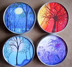 Doesn't her art look great on these tins?