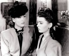 Joan Crawford and Ann Blyth in Mildred Pierce (1945)