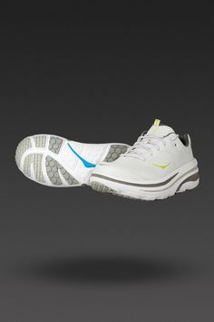 HOKA running shoes.  Phenomenally light and actually pushes me forward, love it (probably rank it the same as the Saucony!)