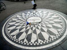 Imagine - monument to John Lennon - Central Park - New Yrk