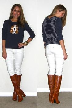 J's Everyday Fashion provides outfit ideas, budget fashion, shopping on a budget, personal style inspiration, and tips on what to wear. Js Everyday Fashion, Everyday Outfits, Cute Fashion, Fashion Outfits, Fashion Pics, White Jeans Winter, Mean Women, Animal Sweater, Budget Fashion