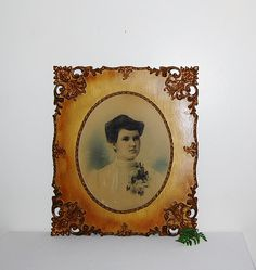 Vintage Gilded Hand Carved Frame with by CheekyVintageCloset, $325.00