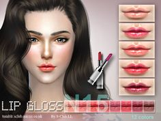 The Sims Resource: Lipstick F15 by S-Club • Sims 4 Downloads