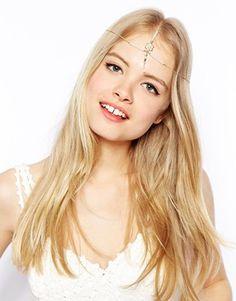 ASOS Pretty Faux Pearl Drop Hair Crown