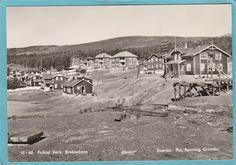 Folldal Verk, brakkebyen Foto: Rønning Grimsbu 1960