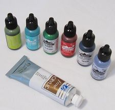 useful info on using inks/paints/wax with polymer clay