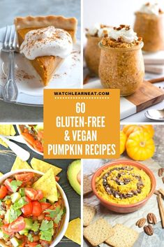 From savory to sweet, this collection of 60 Gluten-Free & Vegan Pumpkin Recipes has a wide variety o Vegan Pumpkin Cookies, Vegan Pumpkin Bread, Gluten Free Pumpkin, Baked Pumpkin, Pumpkin Recipes, Vegan Gluten Free, Fall Recipes, Simple Recipes, Holiday Recipes
