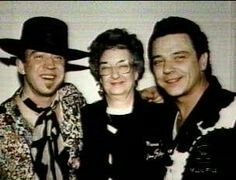 Stevie with his mom Martha and brother Jimmy.
