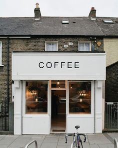 New design cafe exterior coffee shop ideas Coffee Shop Design, Cafe Design, Signage Design, I Love Coffee, My Coffee, Morning Coffee, Coffee Corner, Drink Coffee, Starbucks Coffee