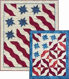 Beautifully creative looks for Patriotic quilts - Waves of Glory Quilt Pattern - The Virginia Quilter
