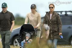 Prince Daniel and royal siblings Crown Princess Victoria and Princess Madeleine stroll with Princess Estelle 7/20/2013