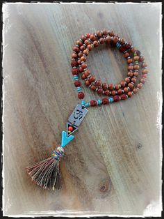 OM symbol NECKLACE Spiritual Sacred Aum Tassel necklace by GPyoga