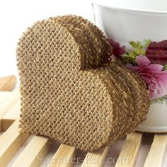 You will receive natural jute burlap hearts in the lot size of your choice. The heart is approximately 7 cm x 6 cm Burlap Card, Burlap Ribbon, Burlap Crafts, Diy And Crafts, Decor Crafts, Paper Crafts, Burlap Wreath Tutorial, Burlap Projects, Handmade Gift Tags