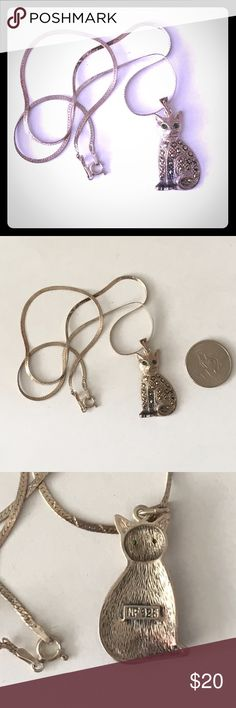 Vintage Cat Necklace From my Grandmothers Vintage Collection. She started collected them when she was younger at yard sales in New York. Over 700 pins and brooches in her collection. Vintage Jewelry Necklaces