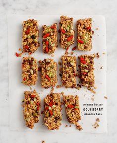 Peanut Butter Goji Granola Bars | 36 Ingenious Ways To Eat Peanut Butter For Breakfast