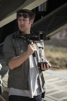 Director of District 9 & Academy Award Nominee Neill Blomkamp, at work on the set of Elysium.