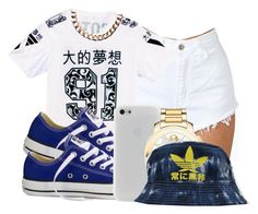 """""""7:27:14"""" by codeineweeknds ❤ liked on Polyvore featuring Converse, Movado and Mimco"""