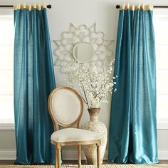 Keep it simple for a look of luxury. Our woven curtain gives a posh finishing touch to any room. The faux silk has a subtle sheen, and the lining assures you of extra privacy. The top offers two options in one—rod pocket or back tab—for a seamless look from top to bottom.
