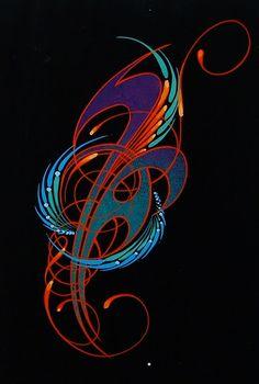 pinstripe art | Wizard Graphics - Pinstriping & Airbrush Art - Gallery - Pinstriping