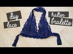 READ FOR STUFF Hi guys! I'm so excited for this video because I finally show you how to make an improved and AMAZING halter lace bralette! Diy Lace Halter Bralette, Bralette Pattern, Diy Clothing, Sewing Clothes, The Sorry Girls, Pinterest Design, Lingerie, Easy Sewing Projects, Diy Lace Projects
