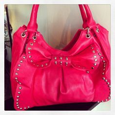 Super Cute Hot Pink-Studded Purse