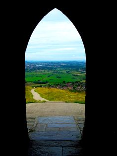View from the Tor's tower, Glastonbury, England