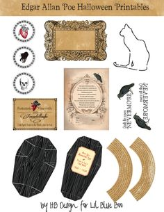 Edgar Allen Poe Halloween printables