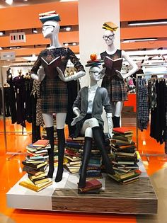 A love of Visual Merchandising   This is a cool back to school display theme.