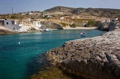 Mytakas beach on Milos Traditional village with azure waters and sandy beach. Greek Isles, Greece Islands, Country, Beach, Places, Water, Travel, Outdoor, Beautiful