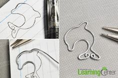 Valentine's Day Project – How to Make a Wire Dolphin Pendant Necklace Dolphin Craft, Wire Bookmarks, Wire Jewelry Designs, Dolphin Jewelry, Animal Earrings, Delphine, How To Make Necklaces, Homemade Jewelry, Diy Schmuck