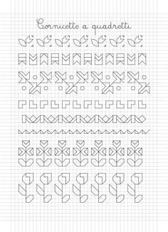 Cornicette e disegni a quadretti