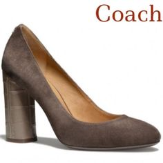 Coach Ophelia Taupe Pumps Chic Coach Ophelia taupe pumps. In great condition! Only worn 2 times. Bottoms are the only thing that show true wear. Heels are fine. 3rd pic shows a small spot of wear on the suede by the sole... Not noticeable when wearing. Otherwise perfect. They are gorgeous! ❌ NO TRADES ❌ NO PP❌ NO LOWBALLING ❌ Coach Shoes Heels