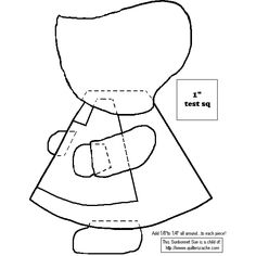 "Pattern for the ""Sunbonnet Sue"" quilt, I remember these and the yo-yo quilts"