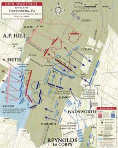 Gettysburg Map, Gettysburg Battlefield, Gettysburg Ghosts, American Revolutionary War, American War, American History, Civil War Books, Military Tactics, Culture War